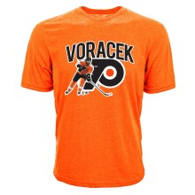 Philadelphia Flyers Jakub Voracek NHL Action Pop Applique T-Shirt