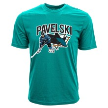 San Jose Sharks Joe Pavelski NHL Action Pop Applique T-Shirt