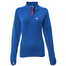 New York Rangers Women's Pacer Team Script 1/4 Zip  Pullover