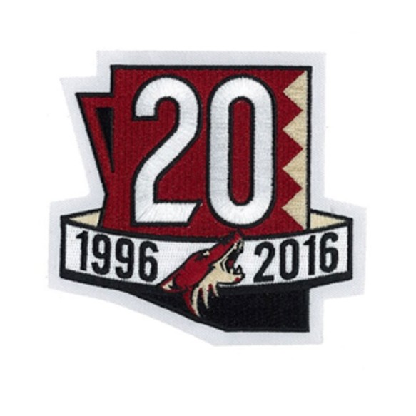 2017 Arizona Coyotes 20th Anniversary Jersey Patch