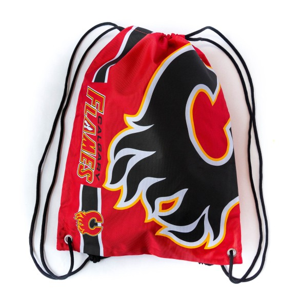 Calgary Flames Drawstring Big Logo Bag