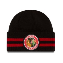 Chicago Blackhawks New Era NHL Cuffed 2 Striped Remix Hat