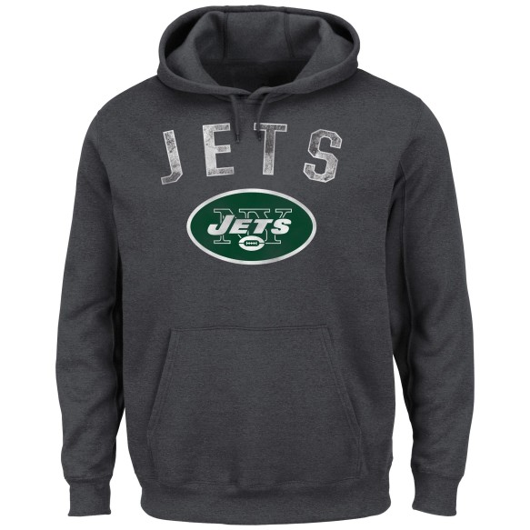 New York Jets NFL Kick Return Hoodie (Charcoal)