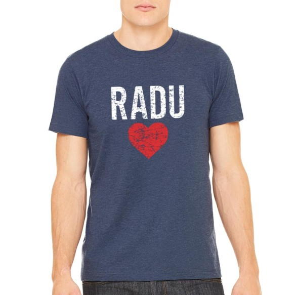 RaduLOVE Vintage Heathered Navy T-Shirt