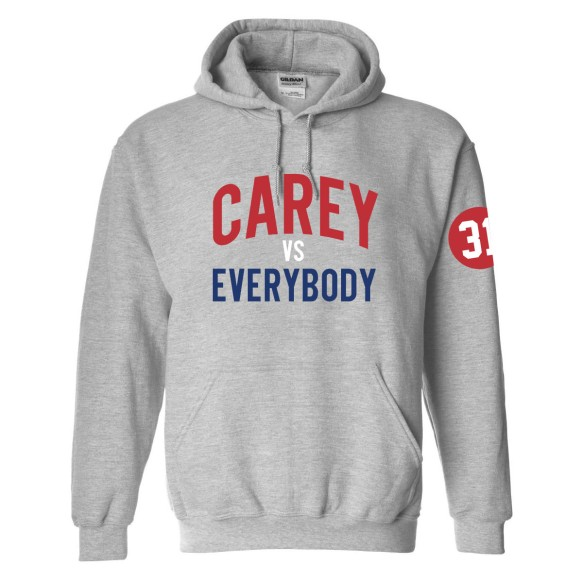 Carey VS Everybody Pullover Arch Hoodie (Sport Gray)