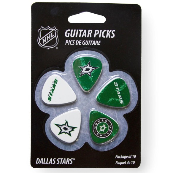 Dallas Stars Woodrow Guitar 10-Pack Guitar Picks