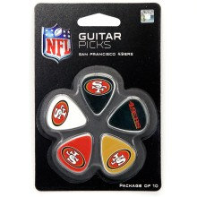 San Francisco 49ers Woodrow Guitar 10-Pack Guitar Picks