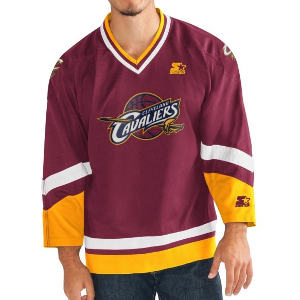 Cleveland Cavaliers Starter NBA Crossover Hockey Jersey