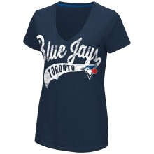 Toronto Blue Jays Women's Away Game V-neck T-Shirt