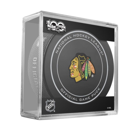 Chicago Blackhawks 2017 Replica Game Puck with Case