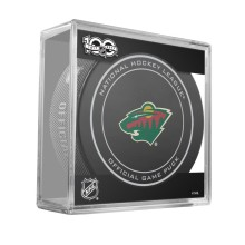 Minnesota Wild 2017 Replica Game Puck with Case