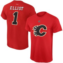 Calgary Flames Brian Elliott Reebok NHL Player Name & Number T-Shirt