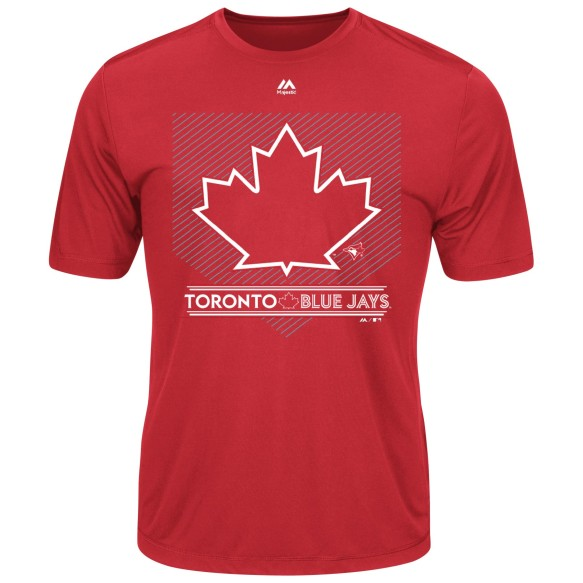 Toronto Blue Jays Alternate 4 Logo Cool Base Synthetic T-Shirt (Red)