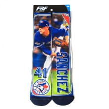 Toronto Blue Jays Aaron Sanchez MLB Player Photo Trading Card Crew Socks