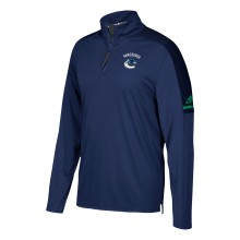 Vancouver Canucks adidas NHL Authentic Pro 1/4 Zip Pullover