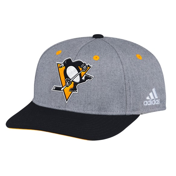 Pittsburgh Penguins Adidas NHL Two Tone Structured Adjustable Cap