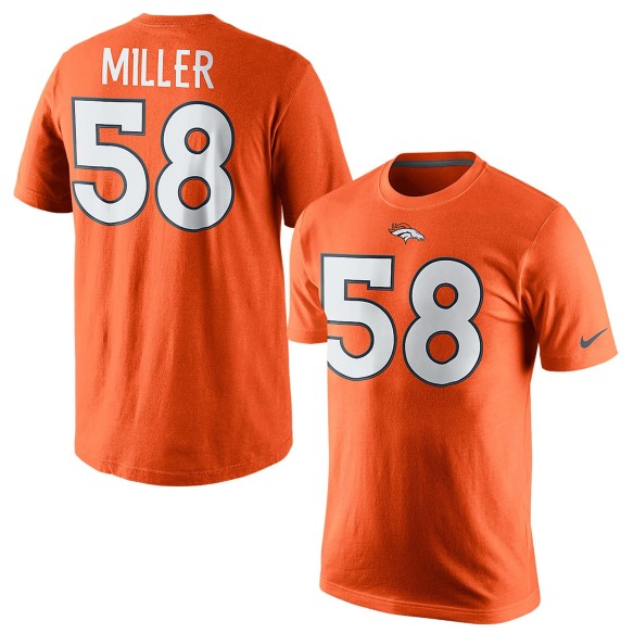 Denver Broncos Von Miller NFL Player Pride Name and Number T-Shirt