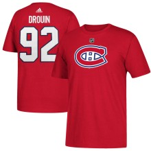 Montreal Canadiens Jonathan Drouin Adidas NHL Silver Player Name & Number T-Shirt