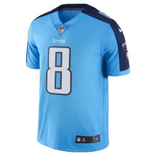 Tennessee Titans Marcus Mariota NFL Nike Limited 2017 Color Rush Team Jersey