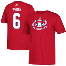Montreal Canadiens Shea Weber Adidas NHL Silver Player Name & Number T-Shirt