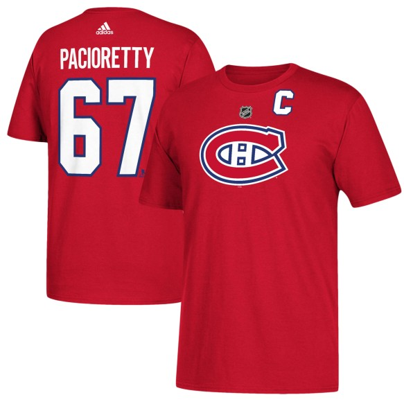 Montreal Canadiens Max Pacioretty Adidas NHL Silver Player Name & Number T-Shirt