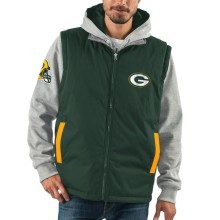 Green Bay Packers NFL 8 Looks In 1 Full Zip Reversible Hooded Vest Jacket