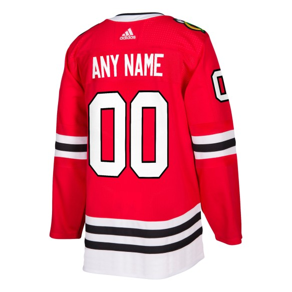 Chicago Blackhawks ANY NAME adidas  NHL Authentic Pro Home Jersey - Pro Stitched