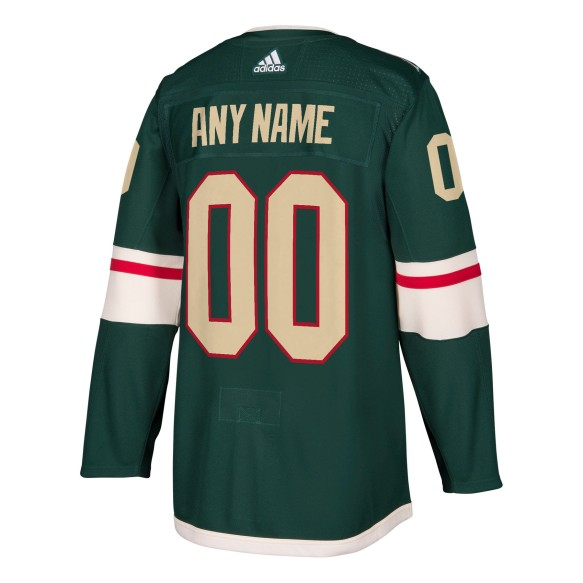 Minnesota Wild ANY NAME adidas NHL Authentic Pro Home Jersey - Pro Stitched