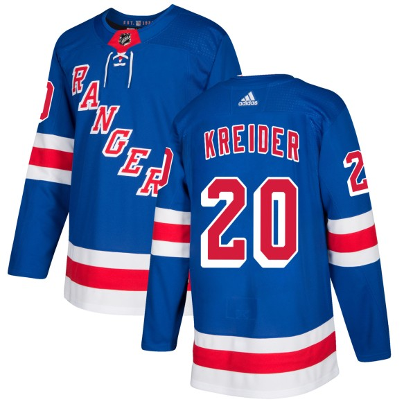 Chris Kreider New York Rangers adidas  NHL Authentic Pro Home Jersey - Pro Stitched