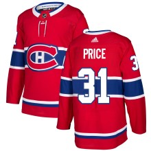 Chandail Carey Price adidas adizero LNH Authentique Rouge des Canadiens de Montreal