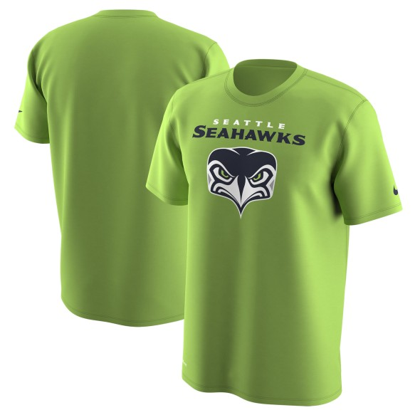 Seattle Seahawks NFL Nike Alternate Logo Dri-FIT T-Shirt - Neon Green