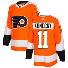 Travis Konecny Philadelphia Flyers adidas  NHL Authentic Pro Home Jersey - Pro Stitched