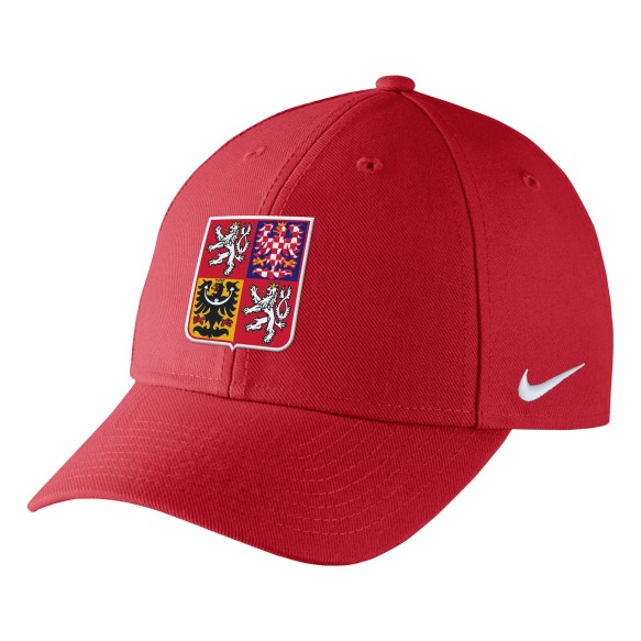 Team Czech IIHF DRI-FIT Classic Adjustable Cap 2018 Olympic Logo - Red