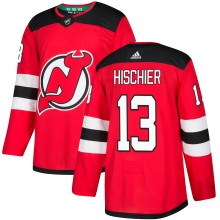 Nico Hischier New Jersey - Pro Stitched Devils adidas  NHL Authentic Pro Home Jersey - Pro Stitched