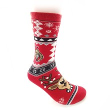 Ottawa Senators NHL Holiday Knit Crew Socks