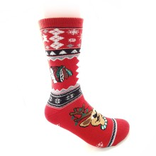 Chicago Blackhawks NHL Holiday Knit Crew Socks