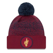 Cleveland Cavaliers New Era NBA On Court Pom Knit Hat