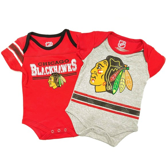 Chicago Blackhawks NHL Baby Definitive 2-pc Bodysuit Creeper Set