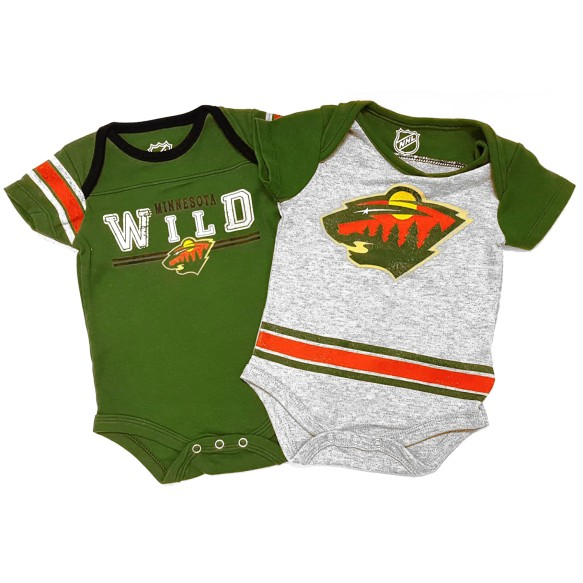 Minnesota Wild NHL Baby Definitive 2-pc Bodysuit Creeper Set