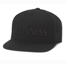 Guinness 400 Series Tonal Black Snapback Cap | Adjustable