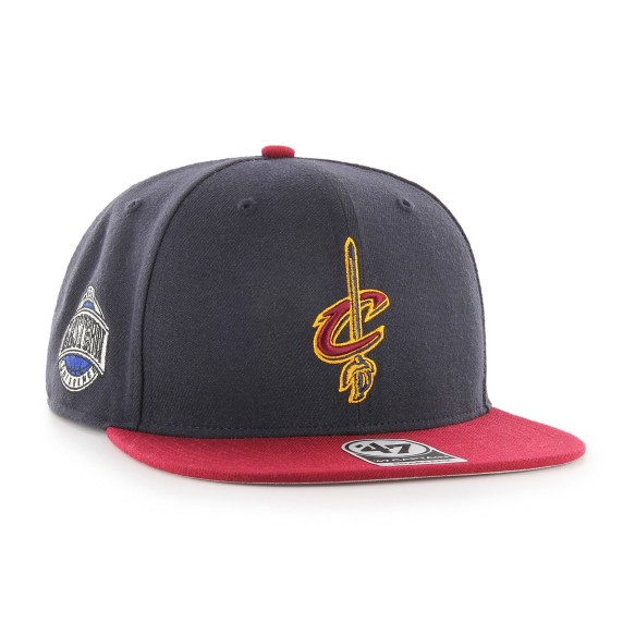 Cleveland Cavaliers NBA Captain Sure Shot 2-Tone Snapback Cap | Adjustable