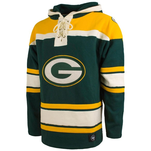 Green Bay Packers NFL '47 Heavyweight Jersey Lacer Hoodie