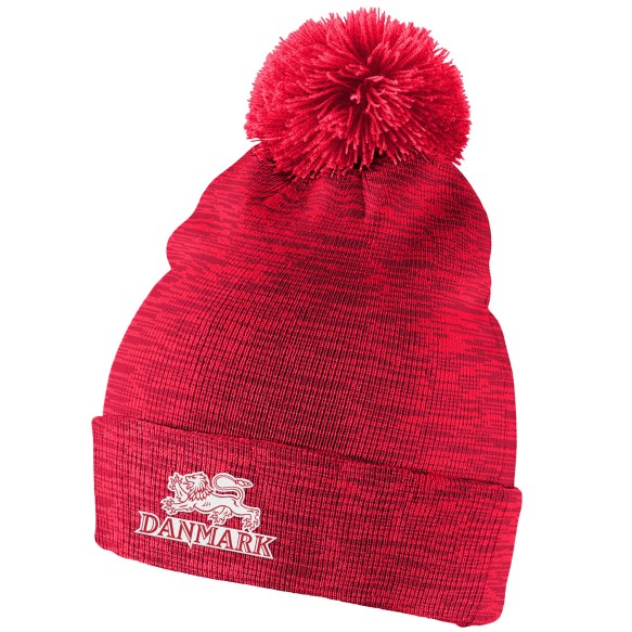 Team Denmark IIHF Cuffed Pom Knit Hat