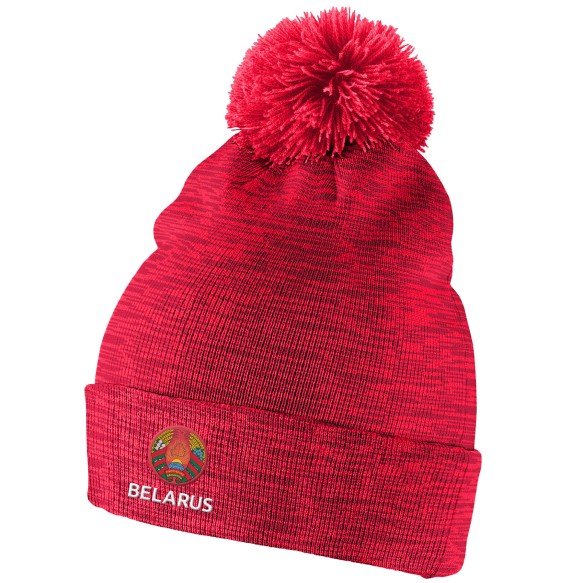 Team Belarus IIHF Cuffed Pom Knit Hat