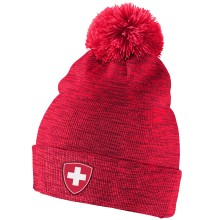 Team Switzerland IIHF Cuffed Pom Knit Hat