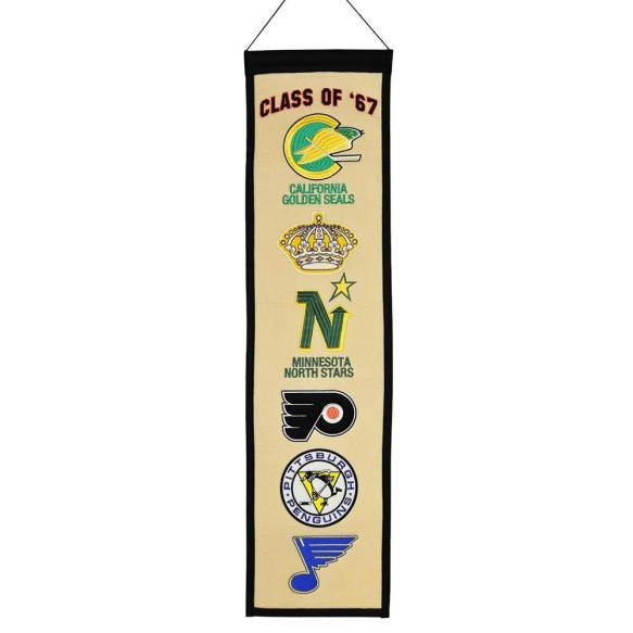 NHL Class of '67 Team Logo Heritage Wool Banner