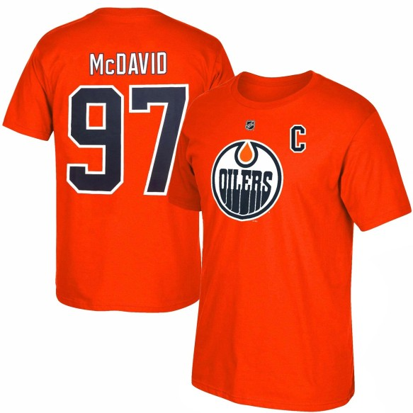 Edmonton Oilers Connor McDavid NHL CHILD Player Name & Number T-Shirt