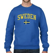 Sweden MyCountry Vintage Fleece Crewneck Sweatshirt (Royal)