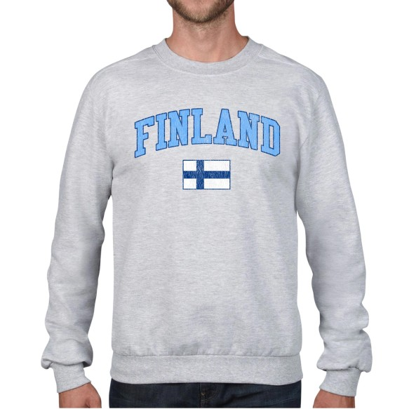 Finland MyCountry Fleece Crewneck Sweatshirt (Heather Gray)