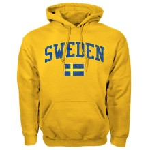Sweden MyCountry Vintage Pullover Hoodie (Gold)